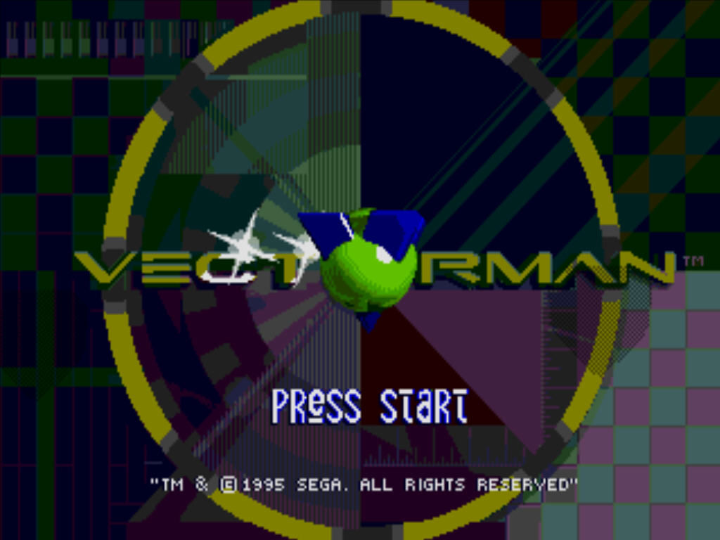 Vectorman Windows Title screen