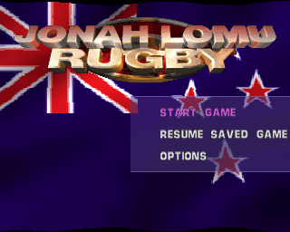 Jonah Lomu Rugby PlayStation The game's menu