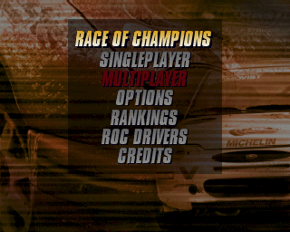 Michelin Rally Masters: Race of Champions PlayStation The game's main menu