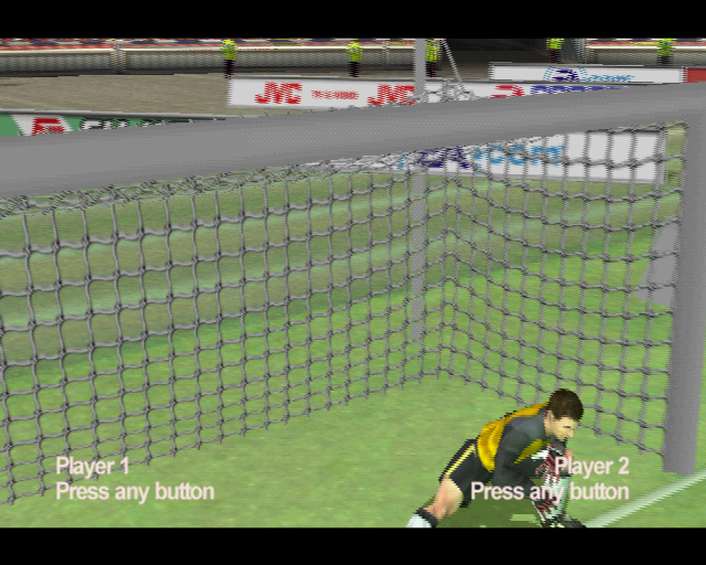 FIFA 2001 PlayStation 2 The demo version starts with the players on the pitch waiting for the player(s) to activate their controllers