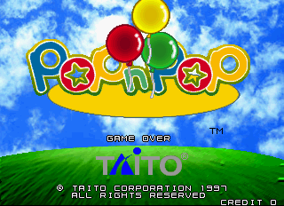 Pop'n Pop Arcade Title Screen.