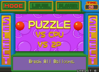 Pop'n Pop Arcade Game Mode.