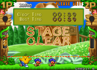 Pop'n Pop Arcade Stage Clear.