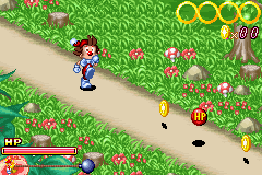 Kid Klown in Crazy Chase Game Boy Advance Get to the bomb before it blows.