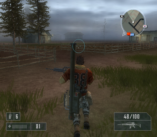 Mercenaries: Playground of Destruction PlayStation 2 ...and merrily jumping through the countryside