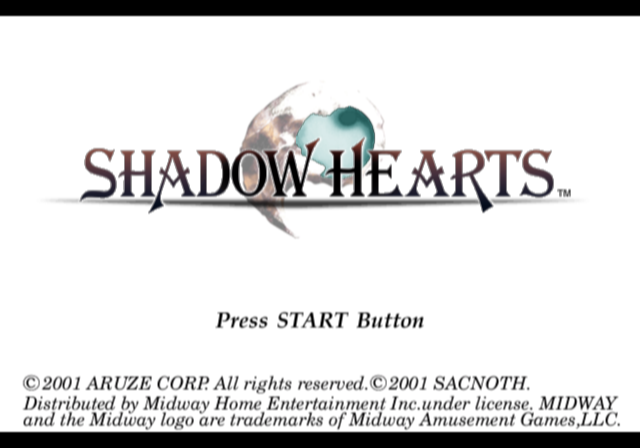 Shadow Hearts PlayStation 2 Title screen