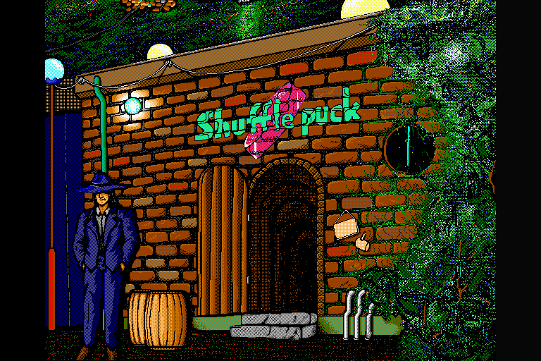 Shufflepuck Cafe Sharp X68000 Title screen