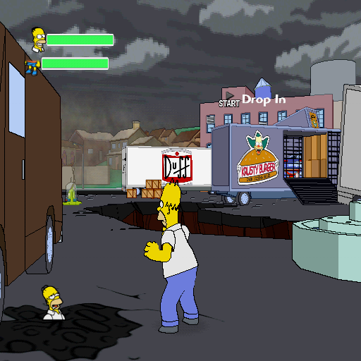 The Simpsons Game PlayStation 2 It's time for Homer to kick some alien butt!