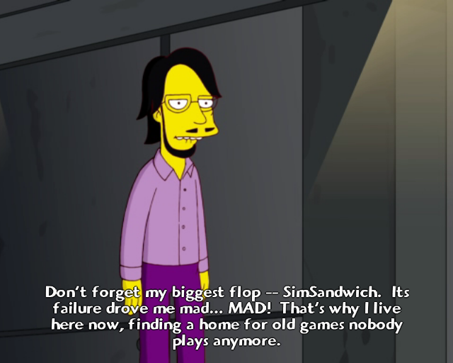 The Simpsons Game PlayStation 2 Famous people make cameo appearances. Do you recognize this guy?..