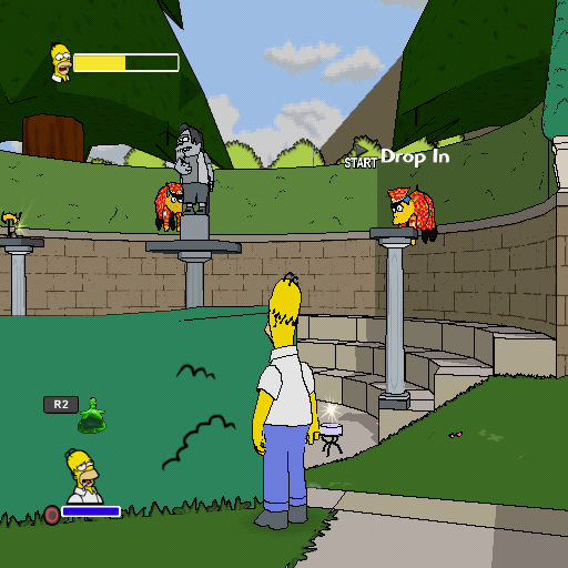 The Simpsons Game PlayStation 2 Hmm, now this looks really weird...
