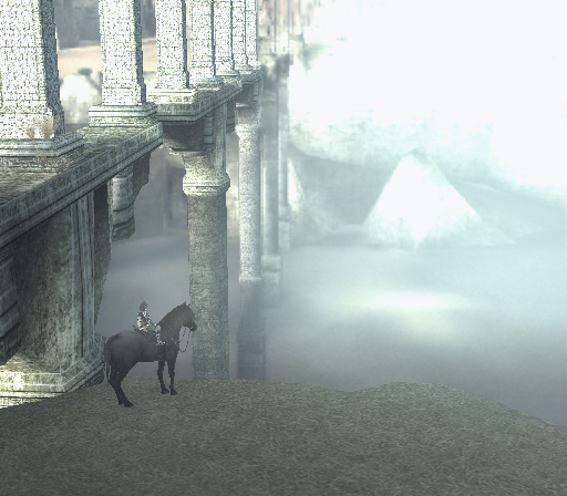 Shadow of the Colossus PlayStation 2 Stopping near a beautiful bridge on the way to many of the colossi