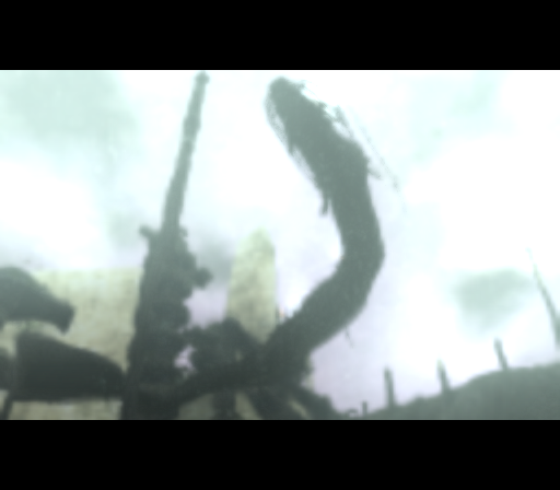 Shadow of the Colossus PlayStation 2 Most colossi love making a dramatic appearance. This here is one of the most original ones, early to mid-game - an underwater snake!