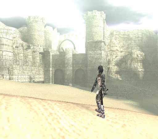 Shadow of the Colossus PlayStation 2 Did you like that other city? Well, how about a magnificent fortress right in the middle of a desert?
