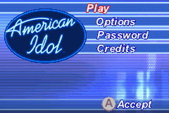 American Idol Game Boy Advance Are you ready to be a star?