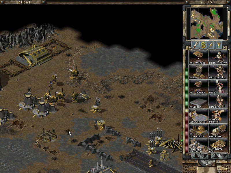 Command & Conquer: Tiberian Sun - Firestorm Windows Already taken Nod base, with many Juggernauts in protection.