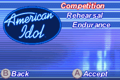 American Idol Game Boy Advance What would you like to do?