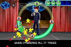 American Idol Game Boy Advance Sometimes you have to hold the key and you see stars if you do it at the right time