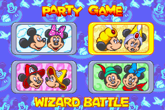 Disney's Magical Quest Starring Mickey & Minnie Game Boy Advance There are four different Party Games