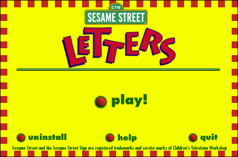 Sesame Street Letters Screenshots for Windows MobyGames