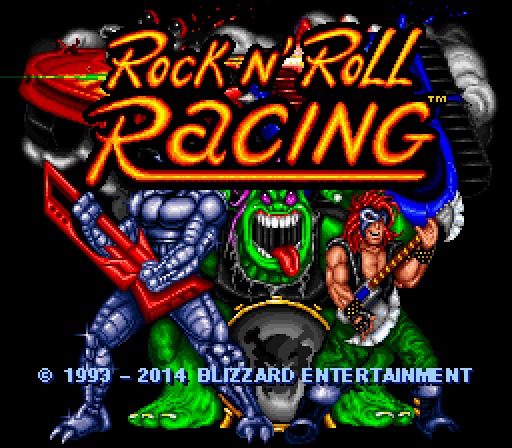Rock n' Roll Racing Windows Title screen