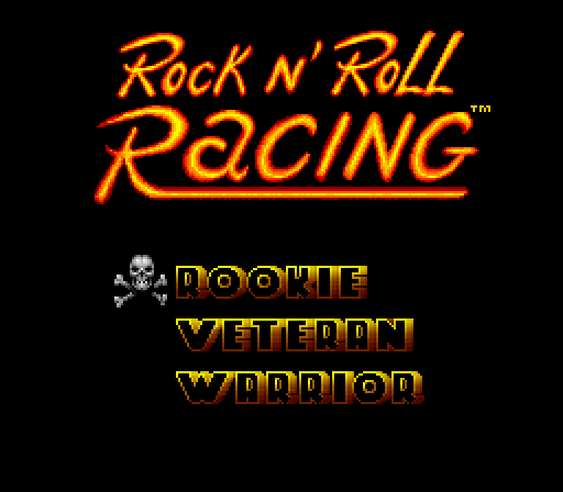 Rock 'n Roll Racing Windows Difficulty selection