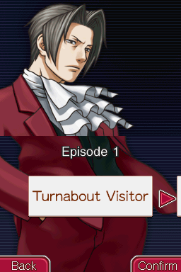 Ace Attorney Investigations: Miles Edgeworth Nintendo DS Similarly to previous Ace Attorney games, the backgrounds appear in the episode selection screen after you finish the specific episode.
