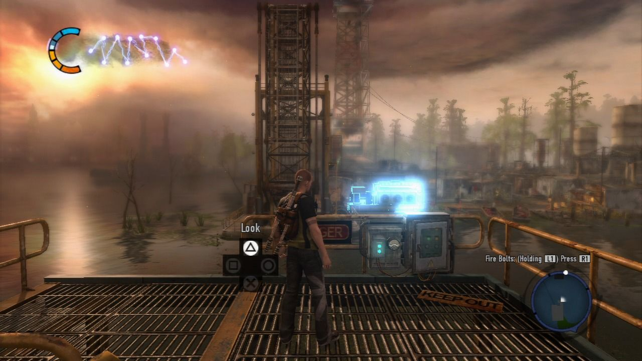 inFAMOUS 2 PlayStation 3 Ability to focus the view on the object of interest occasionally becomes available.