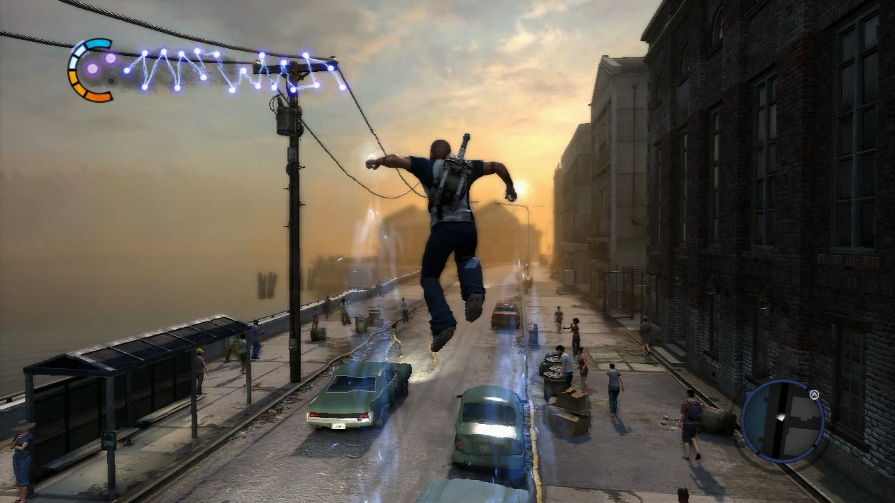 inFAMOUS 2 PlayStation 3 Testing your new power that lets you jump higher when you're on a car.