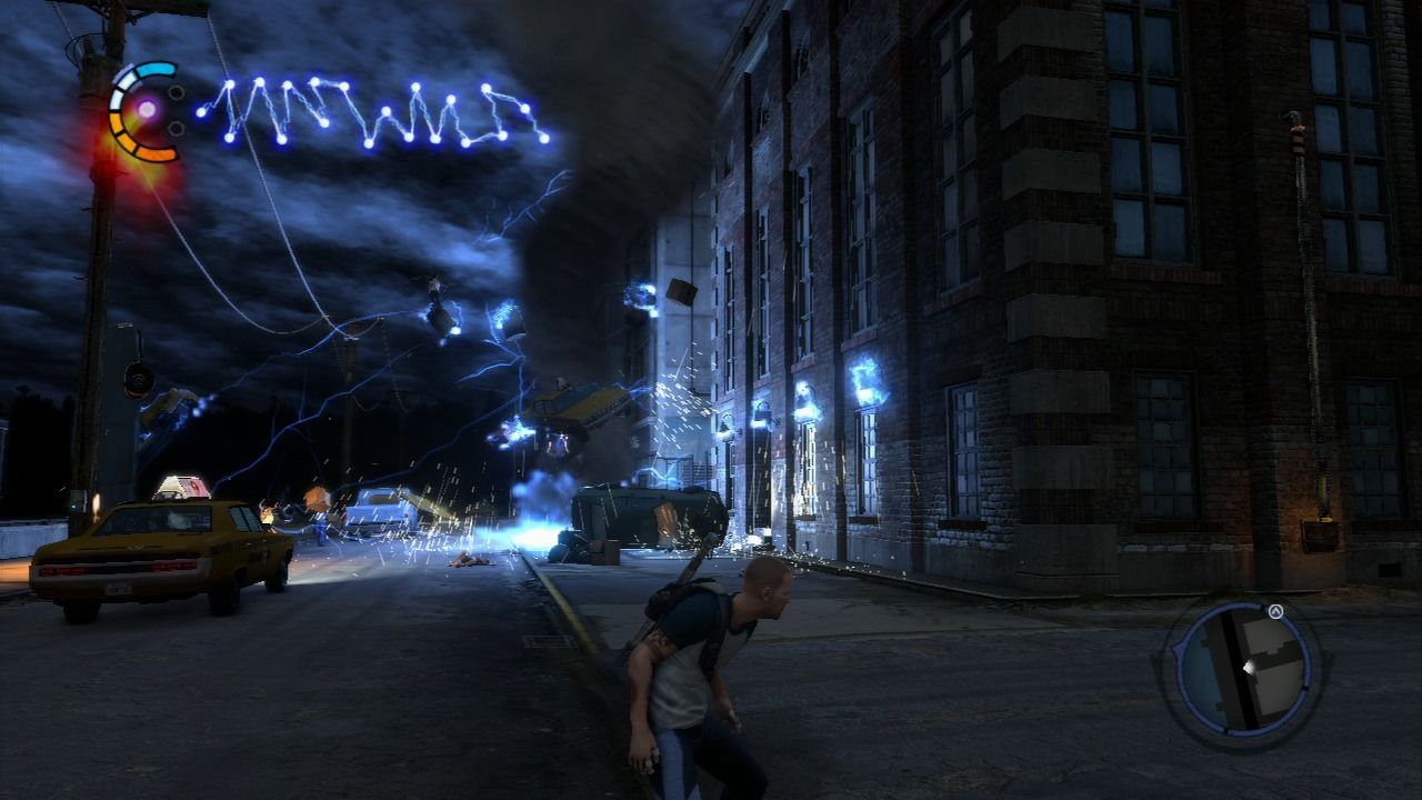 inFAMOUS 2 PlayStation 3 Testing the vortex super power.
