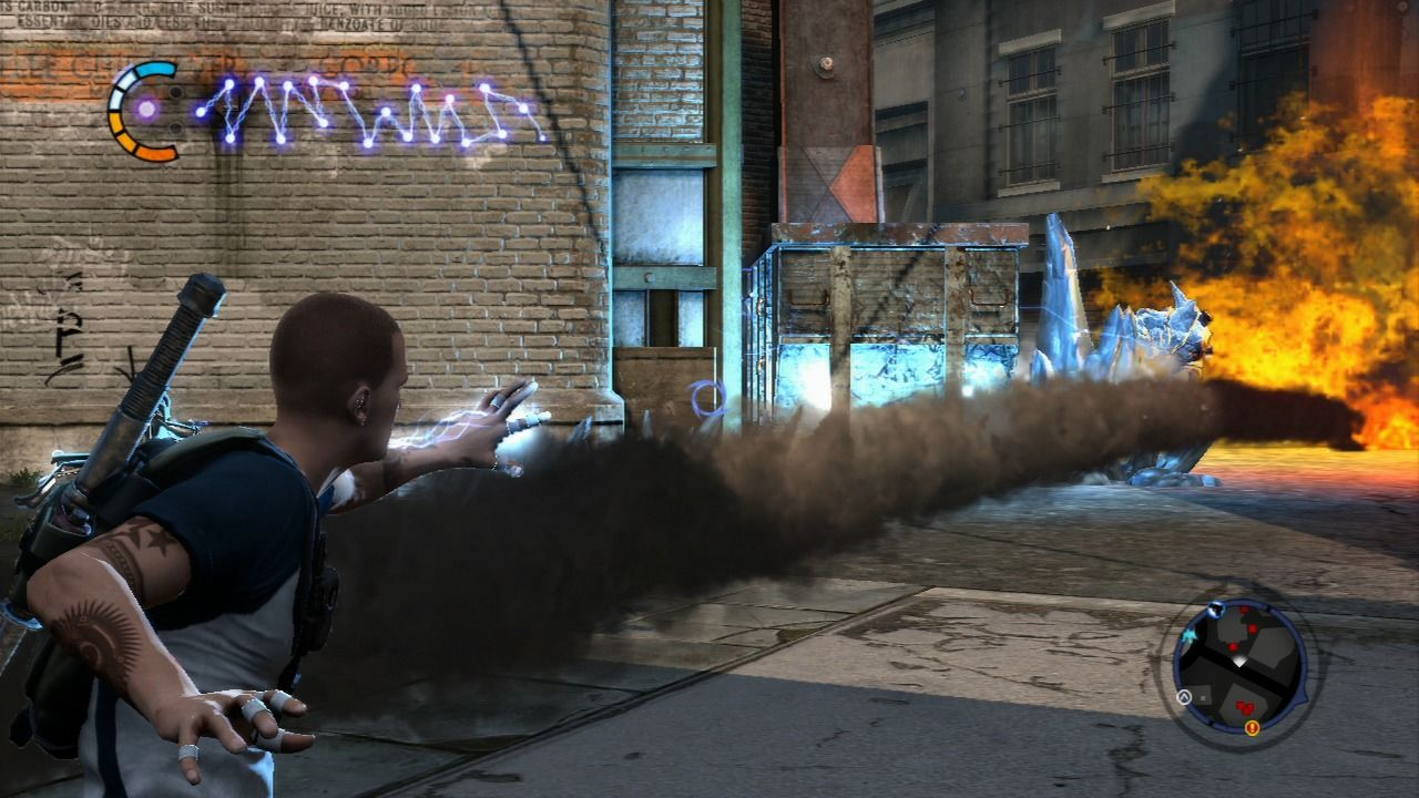 inFAMOUS 2 PlayStation 3 Sometimes you will encounter a conflict between different bands in the city.