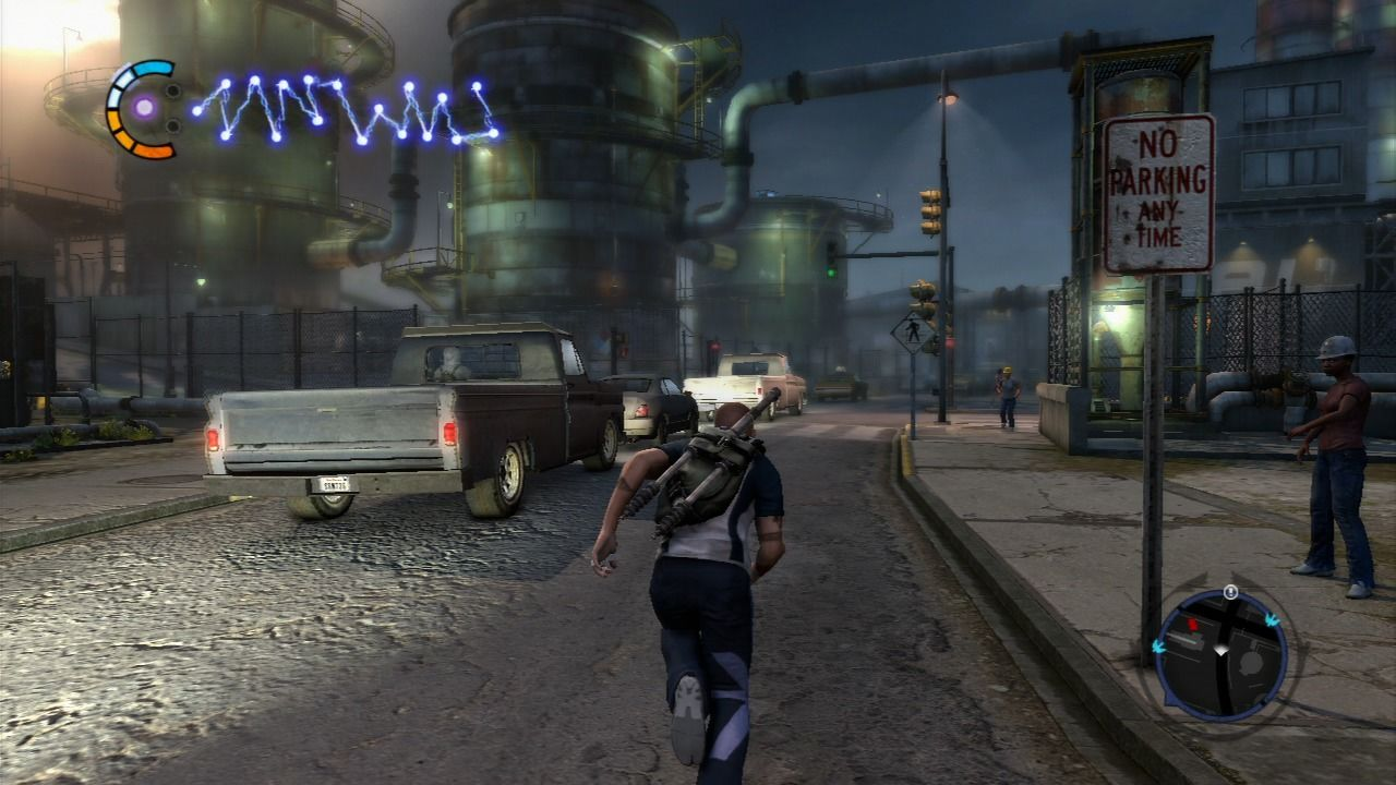 inFAMOUS 2 PlayStation 3 Industrial area of the city.