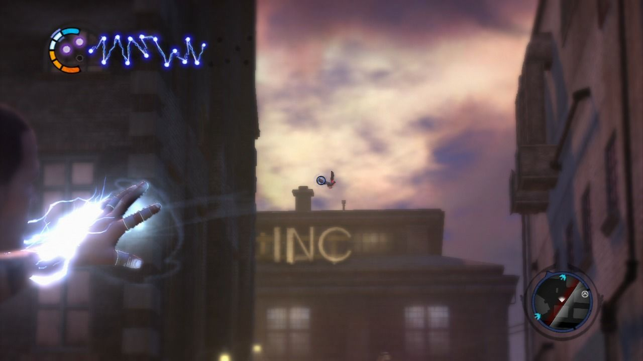 inFAMOUS 2 PlayStation 3 Aiming at the carrier pigeon.