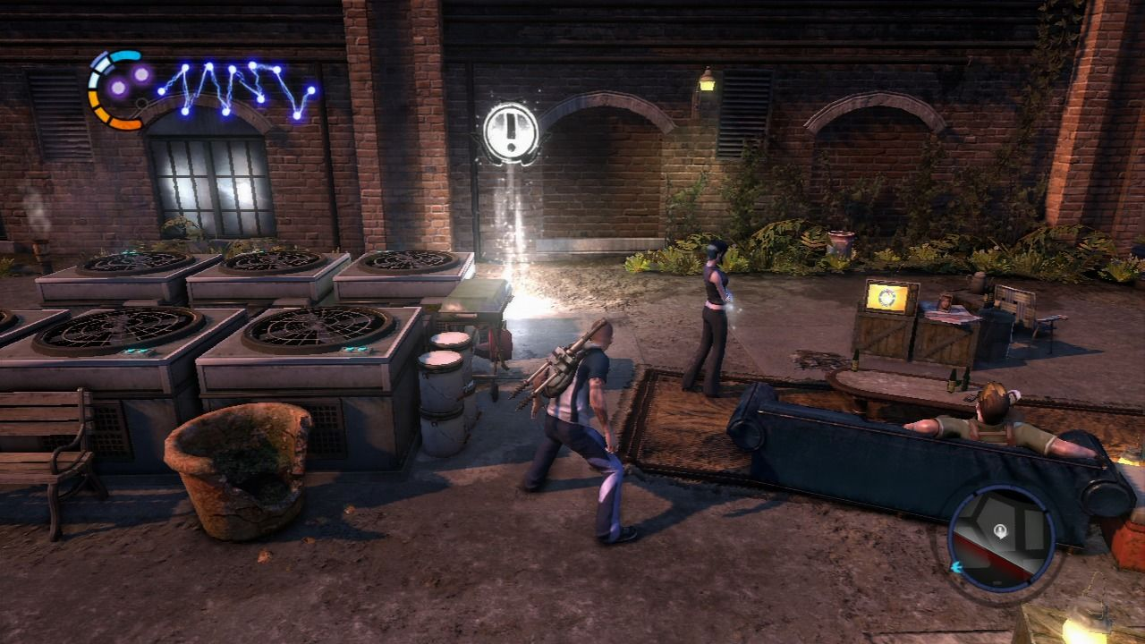 inFAMOUS 2 PlayStation 3 White glowing missions are missions that progress the story.