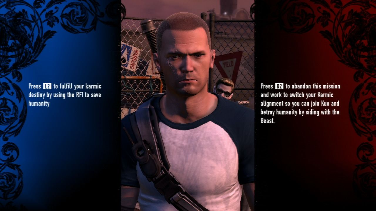 inFAMOUS 2 PlayStation 3 Certain key missions present you with a dilemma.