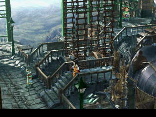 Final Fantasy IX PlayStation Lovely retro-steampunk atmosphere - a train station between some of the major cities
