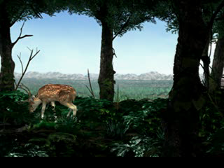 Final Fantasy VIII PlayStation A sweet scene with a deer in a forest