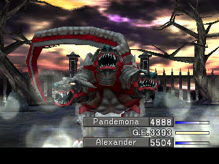 Final Fantasy VIII PlayStation Cerberus summon - I'd watch it just for the awesome animation