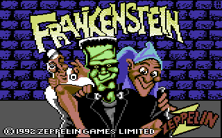 Frankenstein Commodore 64 Loading Screen.