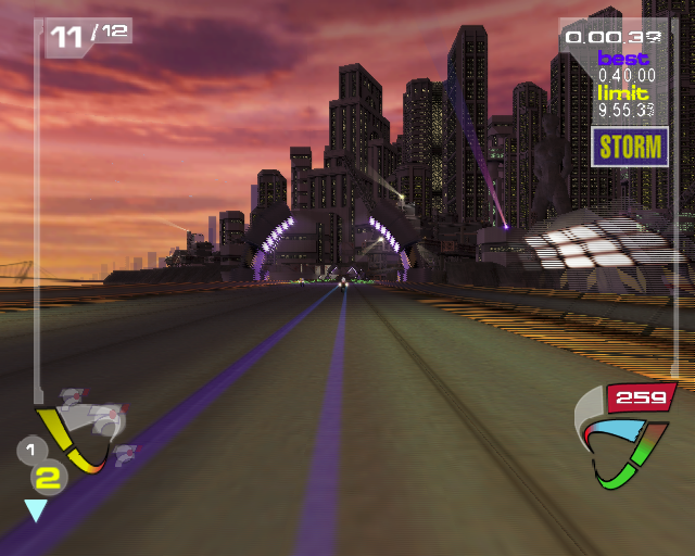 XGIII: Extreme G Racing PlayStation 2 The player can change the default race view to cockpit mode