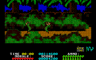 Platoon Atari ST Both player and enemy dying