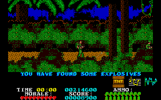 Platoon Atari ST Found some explosives - so what to do with it?
