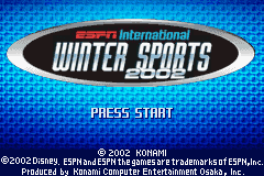 ESPN International Winter Sports 2002 Game Boy Advance Can you beat the world?