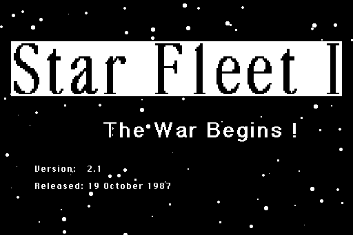 Star Fleet I: The War Begins! Macintosh Title - version & release date
