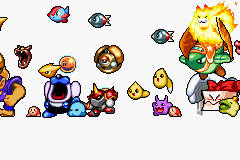 Kirby & The Amazing Mirror Game Boy Advance Characters in intro