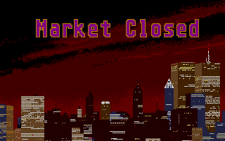 Stock Market: The Game Atari ST Ending the day is shown with a nice picture