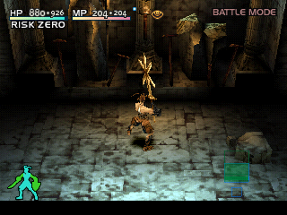 Vagrant Story PlayStation Overcompensating, much? Posing with a huge weapon
