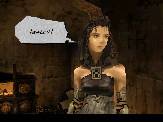 Vagrant Story PlayStation One of the game's many cutscenes - here feature Callo, Ashley's partner and one of the few female characters