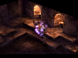 Vagrant Story PlayStation In this dark room undead have trapped me - this ghost is casting a mind-controlling spell!
