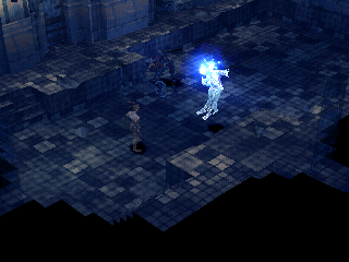 Vagrant Story PlayStation The enemy casts an icy spell on me