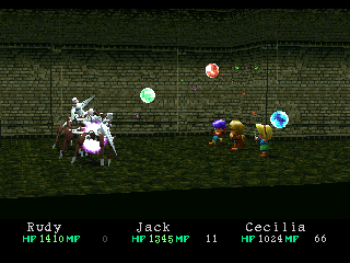Wild Arms PlayStation This spell hurls colored balls at the enemy. I hope they notice that